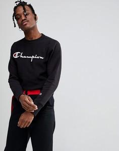 Черный свитшот с крупным логотипом Champion - Черный