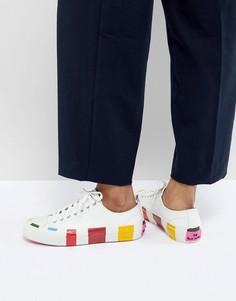 Кроссовки с разноцветными полосками PS by Paul Smith - Белый