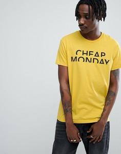 Классическая футболка с логотипом Cheap Monday - Желтый