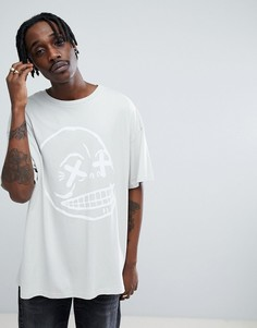 Оверсайз-футболка с черепом Cheap Monday - Серый