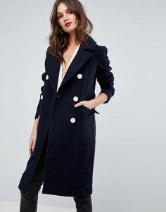 Пальто в стиле милитари Forever - Темно-синий