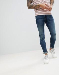 Синие джинсы скинни в винтажном стиле ASOS - Черный