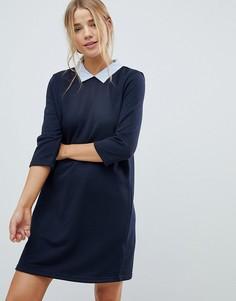 Свободное платье с воротником Only - Темно-синий