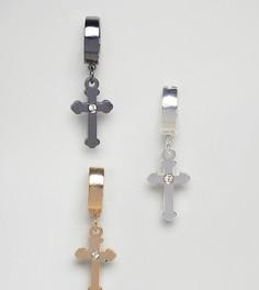Серьги-кольца с покрытием и подвесками ASOS - Мульти