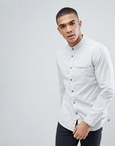 Серая приталенная рубашка Esprit - Серый