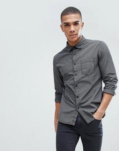 Темно-серая приталенная рубашка в клетку Esprit - Черный
