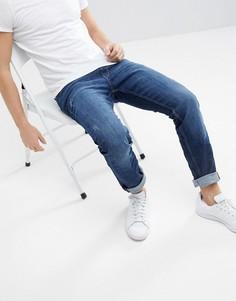Выбеленные узкие джинсы Esprit - Синий