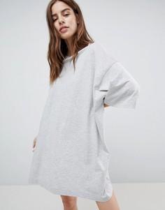 Платье-футболка Weekday Huge - Серый