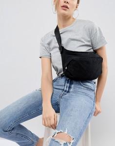 Сумка-кошелек на пояс в стиле oversize от Weekday - Черный