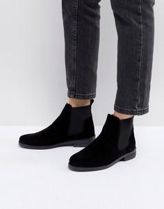 Черные замшевые ботинки челси Office - Черный