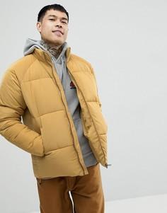 Дутая куртка горчичного цвета ASOS - Желтый