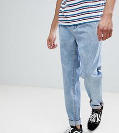 Синие джинсы с плиссировкой ASOS TALL - Синий