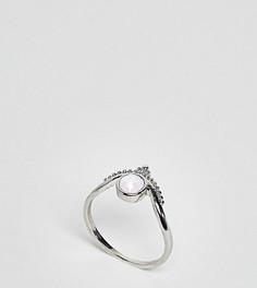 Кольцо с лунным камнем эксклюзивно для ASOS CURVE - Серебряный