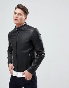 Черная куртка из кожи ягненка HUGO - Черный