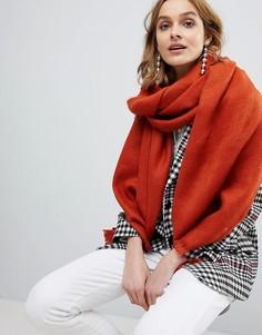 Мягкий длинный шарф ASOS - Коричневый
