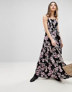 Платье макси Free People Garden Party - Серый