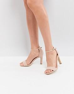 Босоножки на каблуке из искусственной замши New Look - Бежевый
