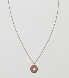 Ожерелье из позолоченного серебра ASOS - Медный
