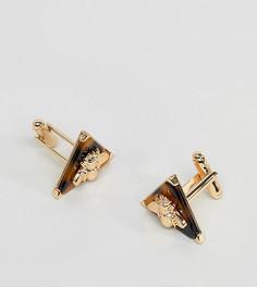 Золотистые запонки с камнями Reclaimed Vintage Inspired эксклюзивно для ASOS - Золотой