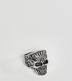 Кольцо с черепом Reclaimed Vintage Inspired эксклюзивно для ASOS - Серебряный