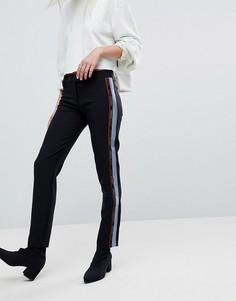 Брюки под смокинг с логотипом Versace Jeans - Черный