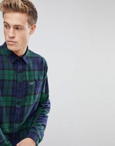Зеленая фланелевая рубашка в клетку Hollister - Зеленый