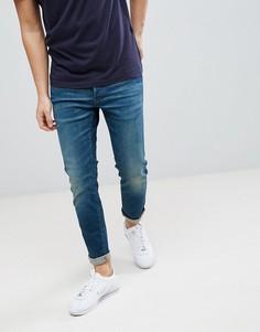 Состаренные узкие джинсы G-Star 3301 - Синий