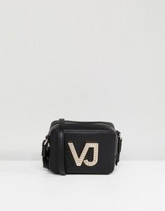 Сумка через плечо на молнии Versace Jeans - Черный