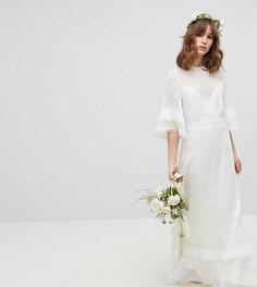 Эксклюзивное платье макси с вышивкой и оборками Stevie May - Белый