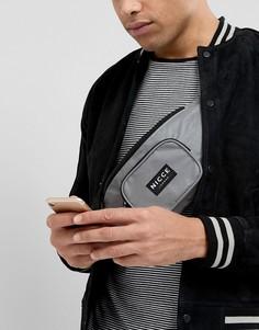 Сумка-кошелек на пояс со светоотражающей отделкой Nicce London - Серый