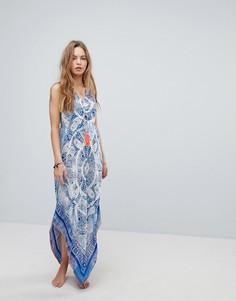 Пляжное платье макси с принтом пейсли Surf Gypsy - Мульти