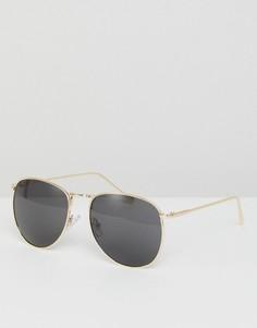 Золотистые солнцезащитные очки‑авиаторы Jeepers Peepers - Серебряный