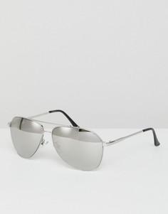 Солнцезащитные очки-авиаторы с зеркальными стеклами Jeepers Peepers - Серебряный