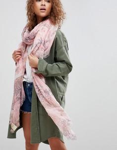 Полупрозрачный шарф с принтом Maison Scotch - Розовый