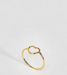 Кольцо на мизинец из позолоченного серебра ASOS - Золотой