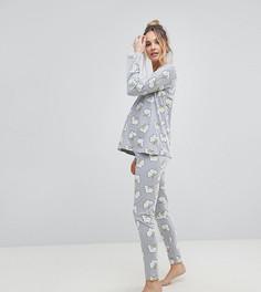 Пижамный комплект с лонгсливом и леггинсами ASOS MATERNITY - Серый