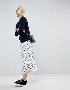 Комбинируемая плиссированная юбка с цветочным принтом ASOS WHITE - Мульти