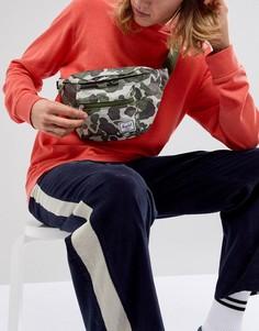 Сумка-кошелек на пояс камуфляжной расцветки Herschel Supply Co Seventeen, 6 л - Зеленый