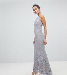 Кружевное платье макси с американской проймой Jarlo - Серый
