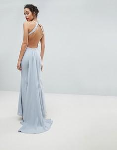 Платье макси с открытой спиной Jarlo - Серый