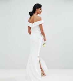 Платье макси с разрезом до бедра Jarlo Petite - Белый
