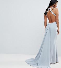Платье макси с открытой спиной Jarlo Petite - Серый