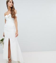 Платье макси с разрезом до бедра Jarlo Tall - Белый