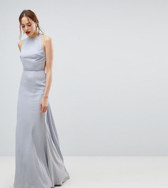 Платье макси с открытой спиной Jarlo Tall - Серый