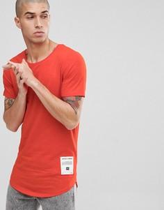 Длинная футболка с фирменной нашивкой Jack & Jones Core - Красный