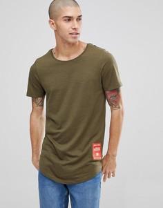 Длинная футболка с фирменной нашивкой Jack & Jones Core - Зеленый