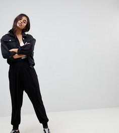 Трикотажные гаремные брюки ASOS PETITE Ultimate - Черный