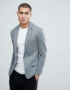 Приталенный трикотажный пиджак Only & Sons - Серый