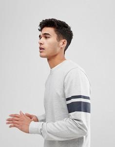 Свитшот с полосками на рукавах Only & Sons - Серый