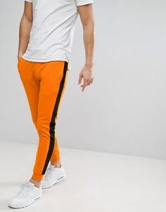 Оранжевые джоггеры с черной полосой Only & Sons - Оранжевый